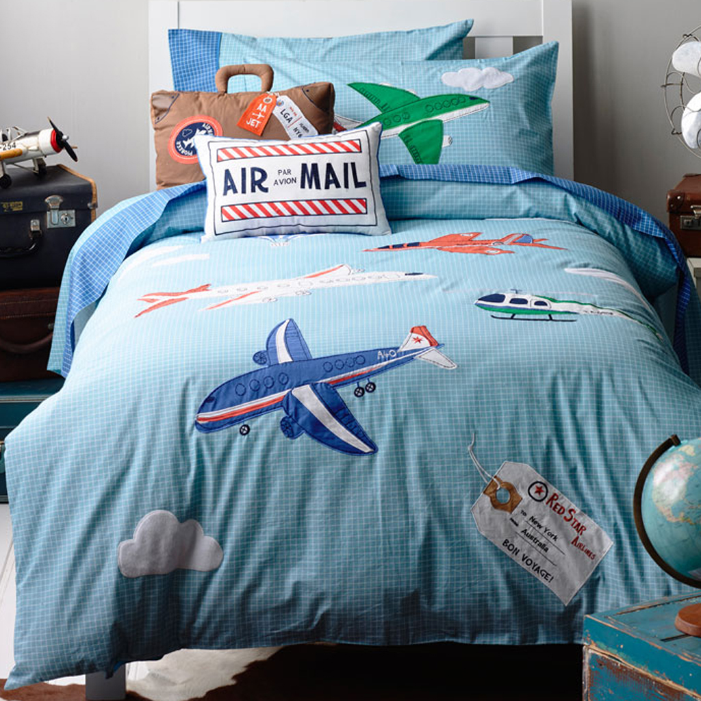Airplane Travel Duvet Cover Set